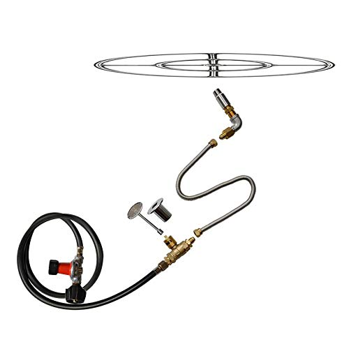 Stanbroil LP Propane Gas Fire Pit Stainless Steel Burner Ring Installation...