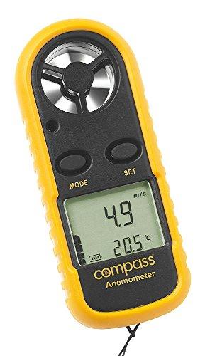 Compass Windmesser/Anenometer mit verschiedenen Einheiten, Temperaturanzeige in Celsius und Fahrenheit, 213960