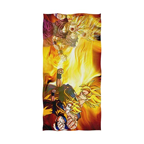 Jesse Tobias Anime Dragon Ball Z Guku Toalla de baño Toalla de Playa de Gran tamaño Uso como Yoga Viaje Camping Gimnasio Toallas de Piscina en la Playa Carrito Sillas de Playa TWL-1891