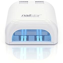 NailStar™ Professionelle UV Nagellampe mit 36 Watt - Nageltrockner für Shellac Gel Nägel mit 120 und 180 Sekunden Timer - Inkl. 4 x 9W UV Lampen