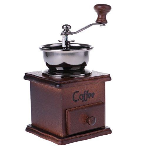T TOOYFUL Manuelle Kaffeebohnenmühle Massivholz Braunmühle Kaffeemühlen