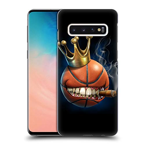 Head Hülle Designs Offizielle Tom Wood König des Basketball Monster Harte Rueckseiten Huelle kompatibel mit Samsung Galaxy S10