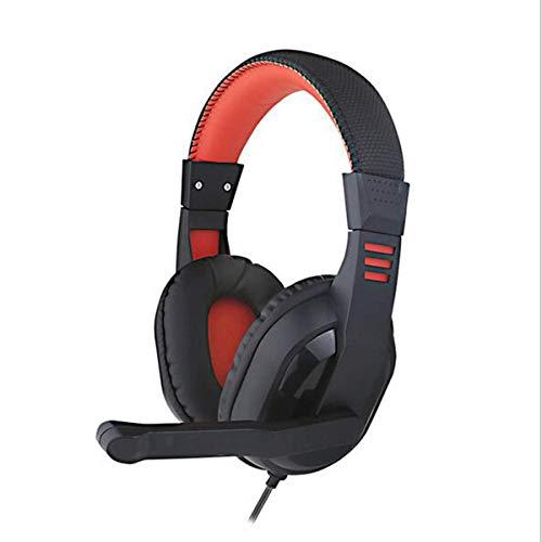 LXY Auriculares para videojuegos, con cable, con micrófono, reducción de ruido integrado, para PC/portátil/tableta/PS4/Xbox One