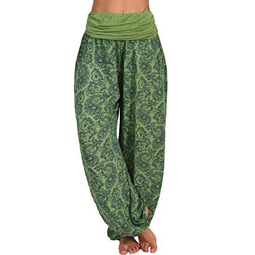 VGSD Sexy Print Loose High Waist Women Yoga Pant for Women Push Up Athletic Tights Women Sport Fitness Yoga Leggings Green