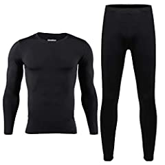 🍀ULTRA SOFT & WARM FABRIC🍀 Thermal Underwear is Made of Premium Silky Soft Lining for Excellent Comfort and Warmth in Cold Weather 🍀KEEP WARM & BREATHABILITY🍀 Perfect for cold weather, comfy stretch softwear in normal thickness, breathable, lightweig...