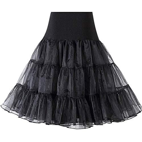 50 S Petticoat Vintage Underskirt Retro Skirt Hoop Petticoat para Ropa Festiva La Boda Vestido Nupcial Rockabilly Enagua Nupcial