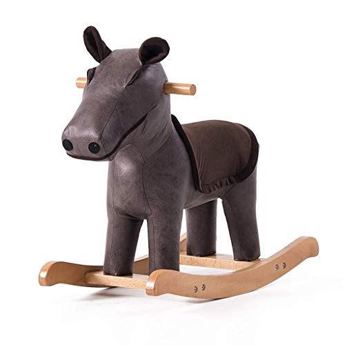 WHTBB Rocking Horse Animal Adventure,Real Wood Ride-On Plush Rocker,Perfect for Ages 3+