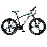 DGAGD Bicicleta de montaña de 27.5 pulgadas, ultraligera para hombres y mujeres, bicicleta de carreras liviana, Tri-Cutter-negro y azul, 24 velocidades