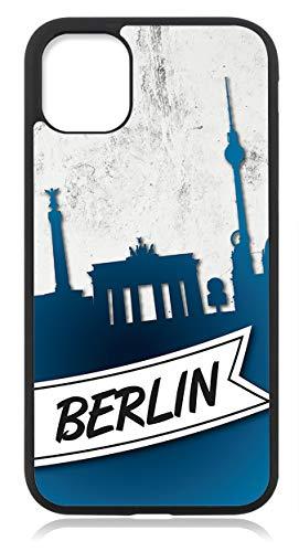 Kompatibel mit Samsung Galaxy S21 Plus Hülle, Silikon Handyhülle Schwarz dünn, Hülle Cover Berlin Skyline Motiv Bild