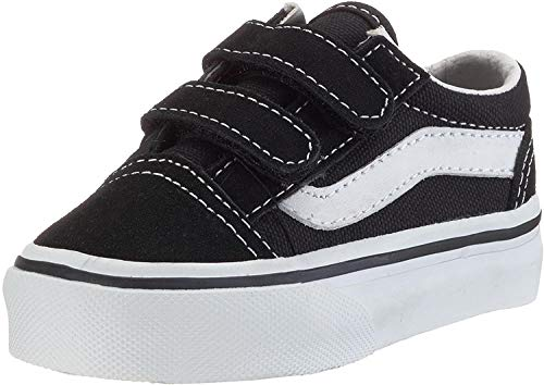 Vans Unisex-Kinder OLD SKOOL V Turnschuh, Schwarz Black True Whit 6Bt, 33 EU