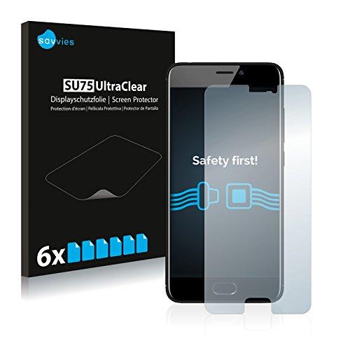Savvies 6X Schutzfolie kompatibel mit Meizu M6 Bildschirmschutz-Folie Ultra-transparent