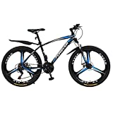 N&I Beach Snow Bicycle Adult 26 inch Mountain Bike Double Disc Brake City Road Bicycle Trail High-Carbon Steel Snow Bikes Wo Variable Speed Mountain Bicycles B 21 Speed C 30 Speed