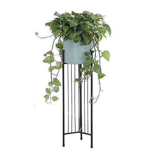 Planta de metal con cubo de flores para decoración de interiores y exteriores, 2 colores de madera para jardín 1031, DTTX001, 83,5 cm, 83,5 cm