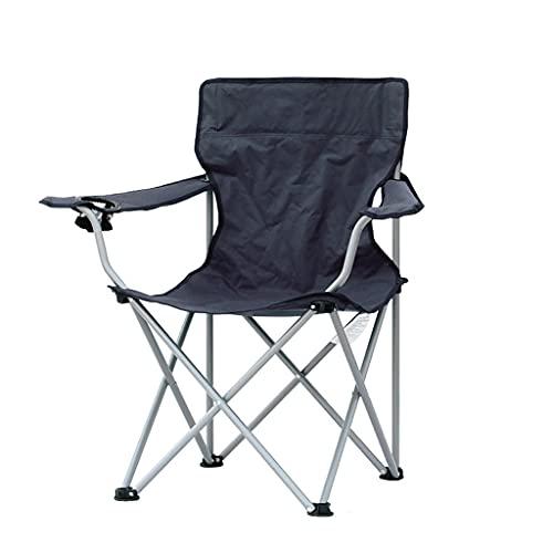 sillas de Camping Silla de Playa Plegable al Aire Libre, sillón de salón portátil para Ocio Camping Playa Pesca Barbacoa Silla de boceto sillas Plegables (Color : Black)