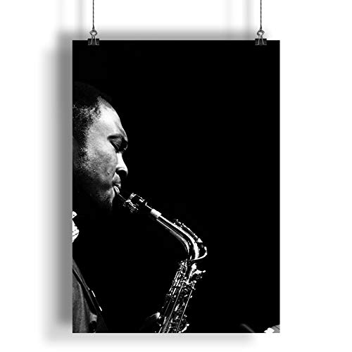INNOGLEN Vintage Music Jazz Saxophone A0 A1 A2 A3 A4 Satin Foto Poster a548h