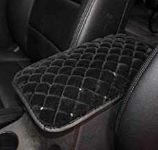 TRUE LINE Automotive Soft Diamond Car Center Console Armrest Elbow Cushion Comfort Pillow Pad (Black)