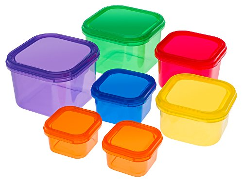 Portion Control Containers Set {7 Piece}: Color Meal Prep Food Storage Containers for Weight Loss with BONUS GUIDE | Leak Proof, Dishwasher Safe | Compatible with 21 Day Fix by Sweet Concepts