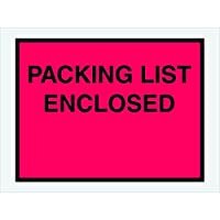 Tape Logic TLPL413 Packing List Enclosed Envelopes Full Face 4 1/2 x 6 Red (Pack of 1000) [並行輸入品]