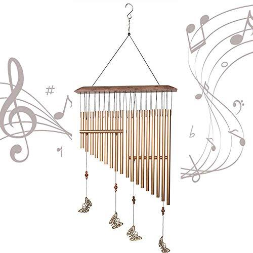 VNAURRY Campanas de Viento, Piano de Mariposa, Campanas de Viento, 18 Tubos de Aluminio, Tono melodioso Relajante, 1 Campanilla de Viento para la decoración Interior del hogar