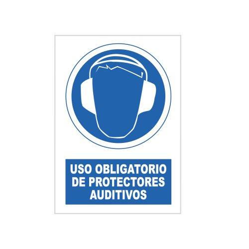 S21 Señalización SOR1010.G Señal uso obligatorio de protectores auditivos, Multicolor