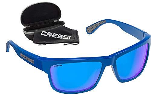 Cressi Unisex– Erwachsene Ipanema Sunglasses Sonnenbrille, Blau Navy/Linse Blau Verspiegelte, Einheitsgröße