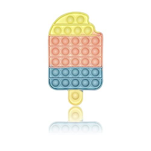 PIANETA Pop it Push it Fidget Toy, Pop Bubble, Gioco Antistress a fine Tensione Giocattolo sensoriale L'autismo allevia l'ansia. per Bambini e Adulti ( Ice )