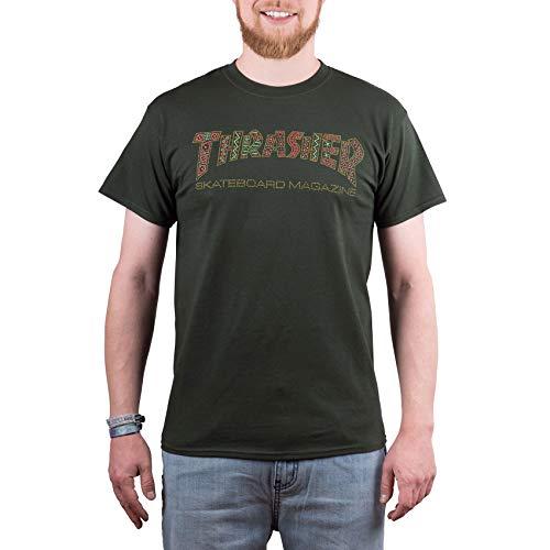 THRASHER T-Shirt Davis Forest Verde (S, Verde)