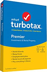 TurboTax Premier + State is recommended if you sold stocks, bonds, mutual funds or options for an employee stock purchase plan, own rental property or you are the beneficiary of an estate or trust (received a K 1 form) With Premier, retirement tax he...