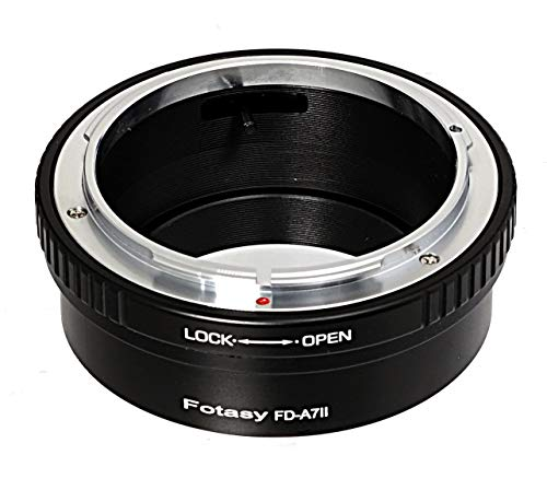 Fotasy Canon FD Lens to Sony FE Mount Adapter, FD to FE Mount, E Mount Lens Adapter to FD, fits Sony a7 II a7 III a7R a7R II a7R III a7S a7S II a7S III a7R IV a9 a9 II a6600 a6500 a6400 a6300 a6100