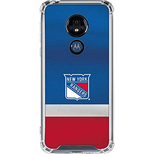 Skinit Clear Phone Case for Moto G7 Power - Officially Licensed NHL New York Rangers Jersey Design