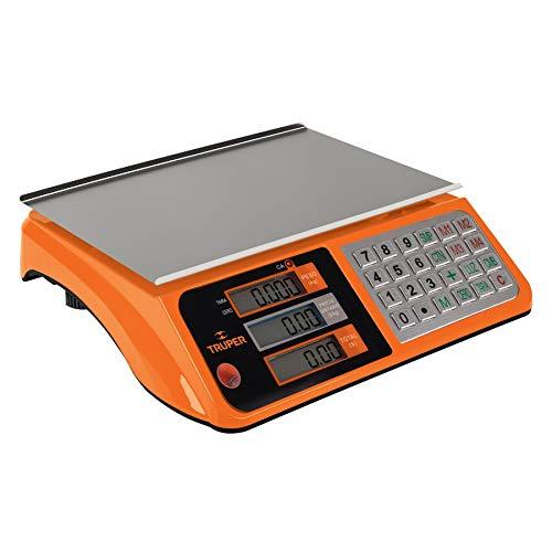 Truper BASE-40 Báscula electrónica multifunciones capacidad 40 kg, color, pack of/paquete de 1