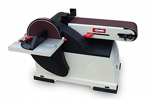 GOWE - Levigatrice a dischi da 150 mm, 100 x 914 mm, levigatrice a nastro per legno 500 W, motore a...