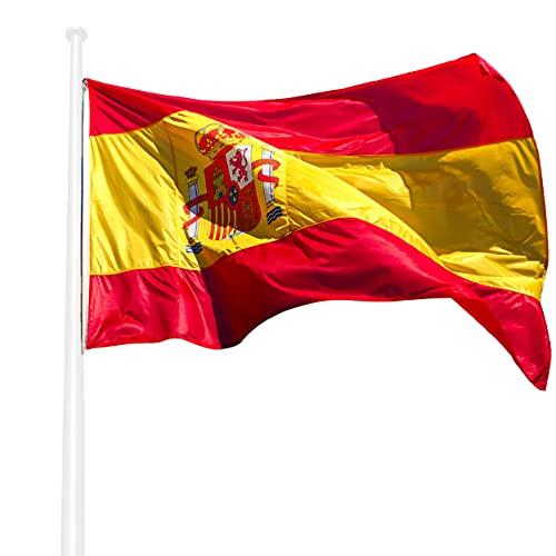 KliKil Bandera España Grande - 1 Bandera de España en poliéster náutico Super Resistente al Viento y la Lluvia 150x90 cm versión Premium 2021 para Balcon, Exterior y Jardin, Spanish Flag -