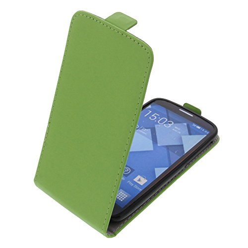 foto-kontor Funda para Alcatel One Touch Pop C7 Protectora Tipo Flip para móvil Verde