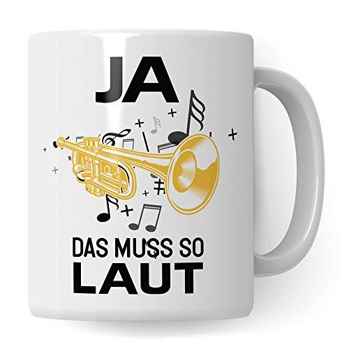 Pagma Druck Trompete Tasse, Musiker Geschenke Trompete, Kaffeetasse für Trompeter und Trompetenspieler, Trompete Geschenkideen Becher Deko Musiker Blechbläser Dekoration Spruch