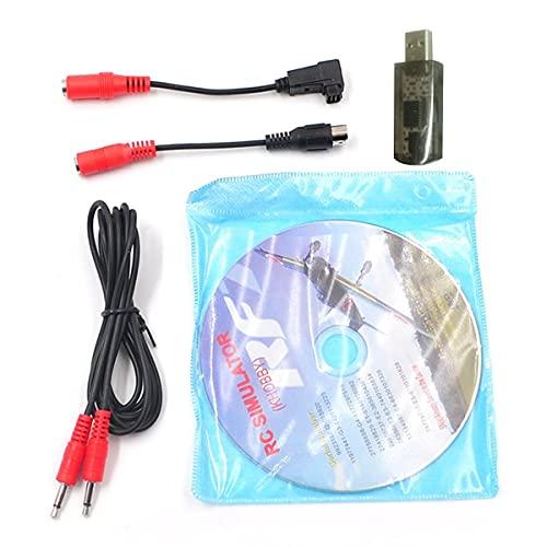 healthwen 22 en 1 RC USB Flight Simulator Cables compatibles con Realflight...