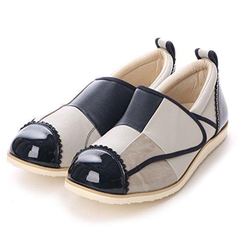 (クラース)カノン SS (21.5~22.0cm) ライトグレー×ネイビー 婦人 介護靴 おしゃれ リハビリ 転倒防止 むくみ