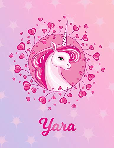Yara: Unicorn Sheet Music Note Manuscript Notebook Paper – Magical Horse Personalized Letter Y Initial Custom First Name Cover – Musician Composer … Notepad Notation Guide – Compose Write Songs