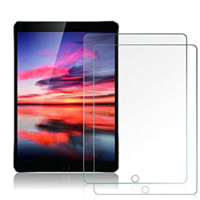 2-Pack Screen Protector for iPad 8th Generation / 7th Generation 10.2 Inch [ Tempered Glass ] [ Bubble-Free ] [ Anti-Scratch ] Work with Apple Pencil, Compatible with iPad 2020 & 2019