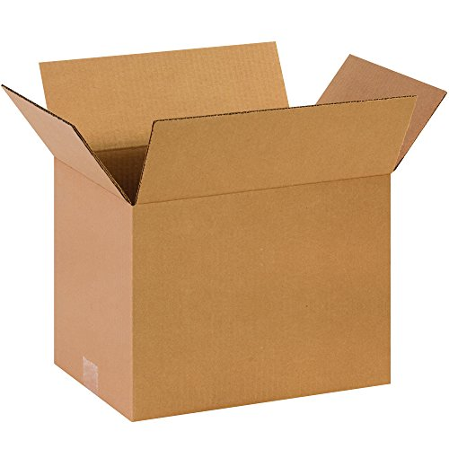 Partners Brand P141010 Corrugated Boxes, 14'L x 10'W x 10'H, Kraft (Pack of 25)