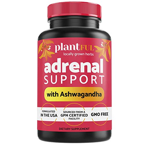Adrenal Support and Cortisol Manager Supplement │Natural Energy Supplements for Fatigue, Stress & Anxiety Relief, Metabolism Booster, Focus, Mood Support with Ashwagandha Extract, Rhodiola Rosea