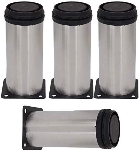 QXHELI Möbelzylinder aus Kunststoff, Schwarz, Beine, mit Draht, für Sofa und Sessel, Büromöbel, TV-Möbel, Füße Schrank