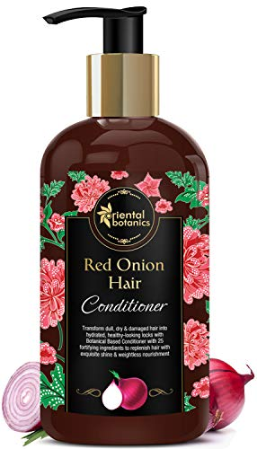 Oriental Botanics Red Onion Hair Conditioner with Red Onion Oil & 25 Botanical Actives – No Parabens, Mineral Oil, Sulphate, 300ml