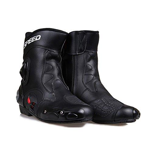 con protecci/ón de tobillo para carreras rojas Botas de motocicleta LKN