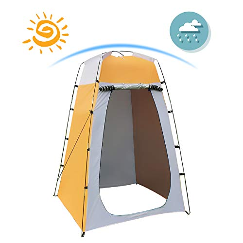 Shower Tent Quick Set Up Privacy Tent Dressing Tent, Waterproof Portable Toilet Tents for Camping, Beach Changing Room Shelter Canopy 47.2X47.2X70.8 Inches Include Tent Peg, Pole, Rope, Storage Bag