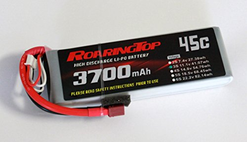 RoaringTop LiPo Battery Pack 45C 3700mAh 3S 11.1V with Deans Plug for RC Car Boat Truck Heli Airplane
