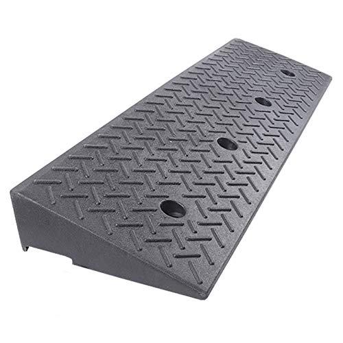 LIANGJUN Heavy Duty Curb Ramp Rubber, Threshold Ramp Driveway, Portable Lightweight Plastic Uphill Ramp For Loading Dock Sidewalk Car, 9 Size, 1M Long (Color : Black, Size : 100X25X8CM)