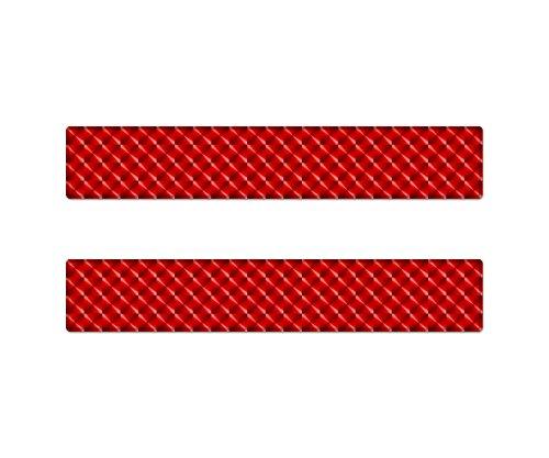 AG Design A-O-9474 sticker reflector rechthoekig, 3D, grootte 14x2,5 cm, set van 2 - rood