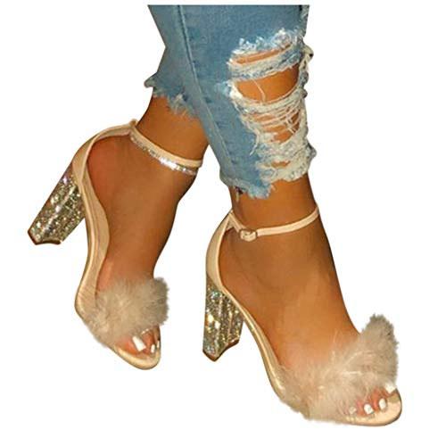 Review Of Sunhusing Ladies High Heel Sandals Women's Casual Roman Style Open Toe Large Size Crystal ...