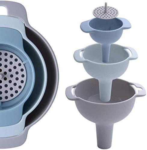 WYJZHEN Embudo de Cocina 4PCS Embudo de Transferencia Multifuncional 4 en 1 Embudo de líquido